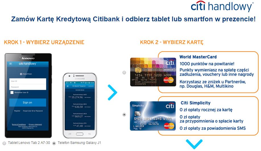 telefon lub tablet w prezencie od CitiBank