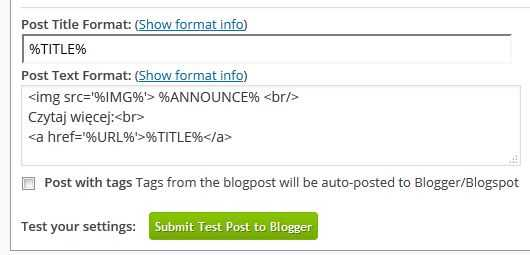 Social Network Autoposter blogger